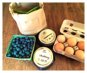 image of berries, jams, beans, and eggs